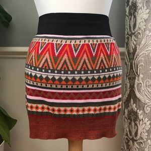 Dresses & Skirts - Aztec Geometric Mini Sweater Skirt